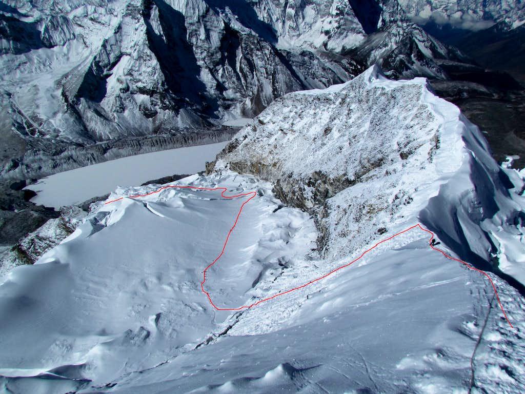 Imja Tse climbing route