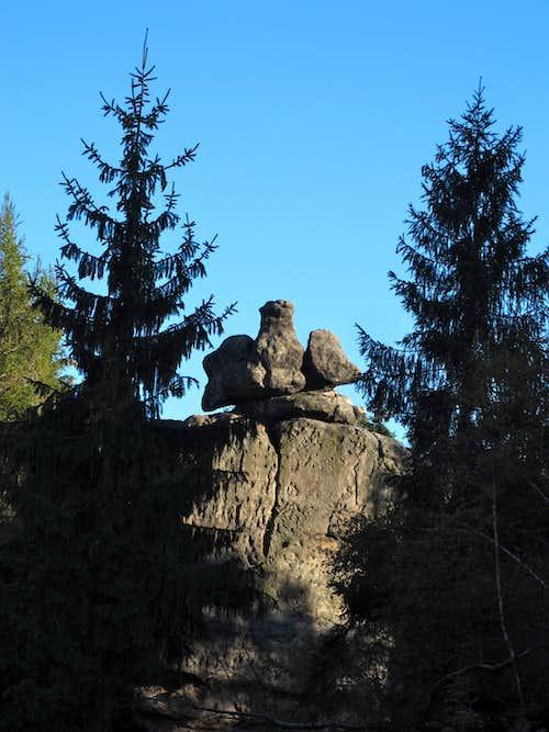 The sandstone rock named