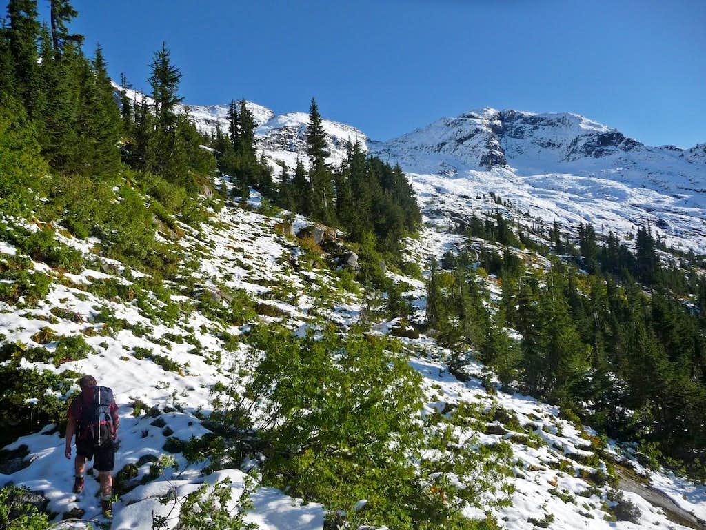 Hiking up towards the Basin