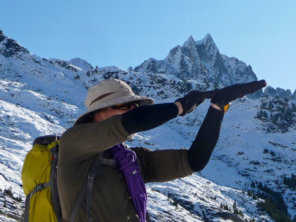 Ski Holding Up Mount Torment