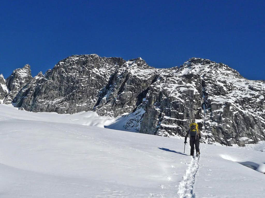 Approaching the Cliffs near the Glacier