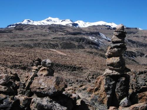 Nevado Huarancante and Nevado Chucura from the west