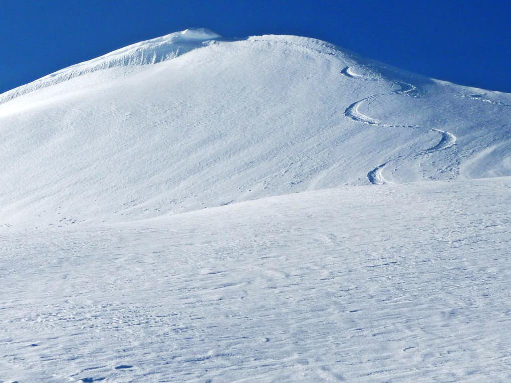 Ski Tracks on the Eldorado Ridge