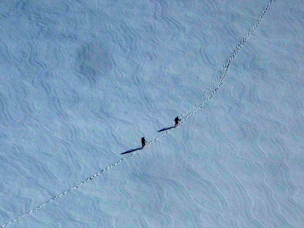 Climbers Way Below Us