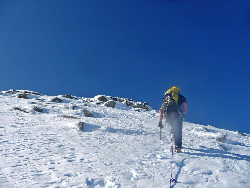 Heading up towards the Summit
