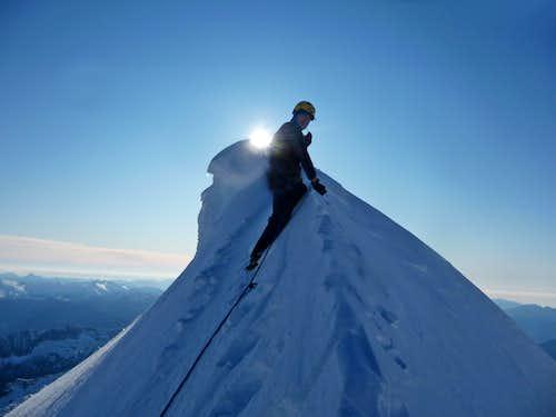 Walking into a Winter Wonderland on Eldorado Peak