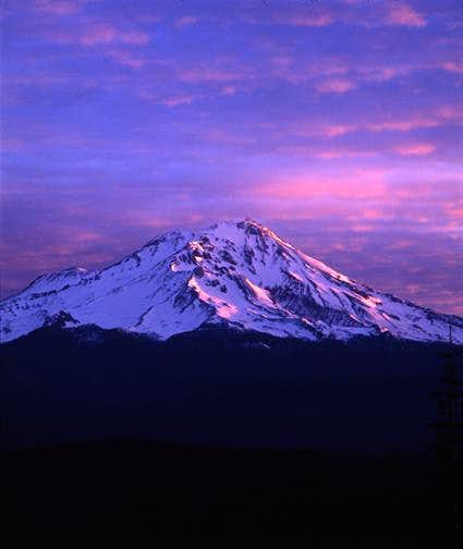 Mt. Shasta at Dawn From McCloud River