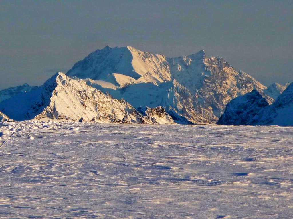 Bonanza Peak from the Eldorado Glacier