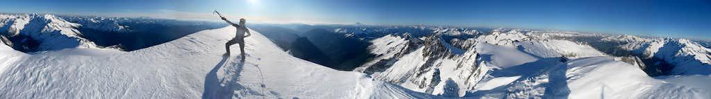 Eldorado Peak 360 Summit View