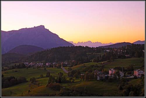 Evening on Lavarone plateau