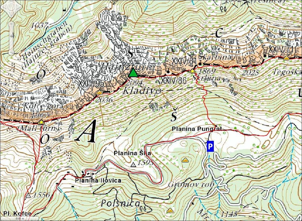 Kladivo map
