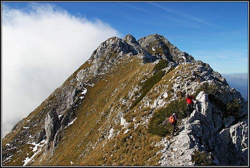 Towards the summit of Kladivo