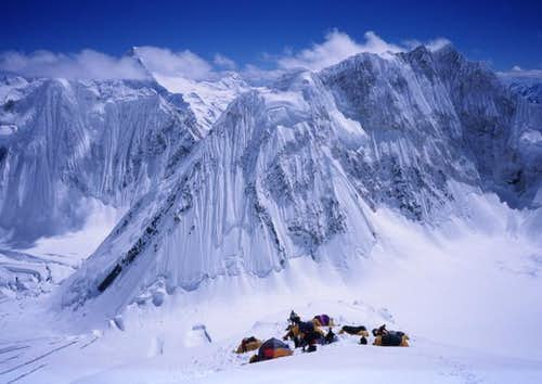 Camp 3 high on the SW ridge...