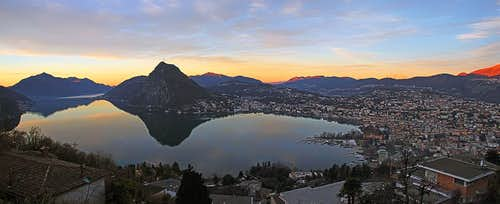 Morning above Lugano