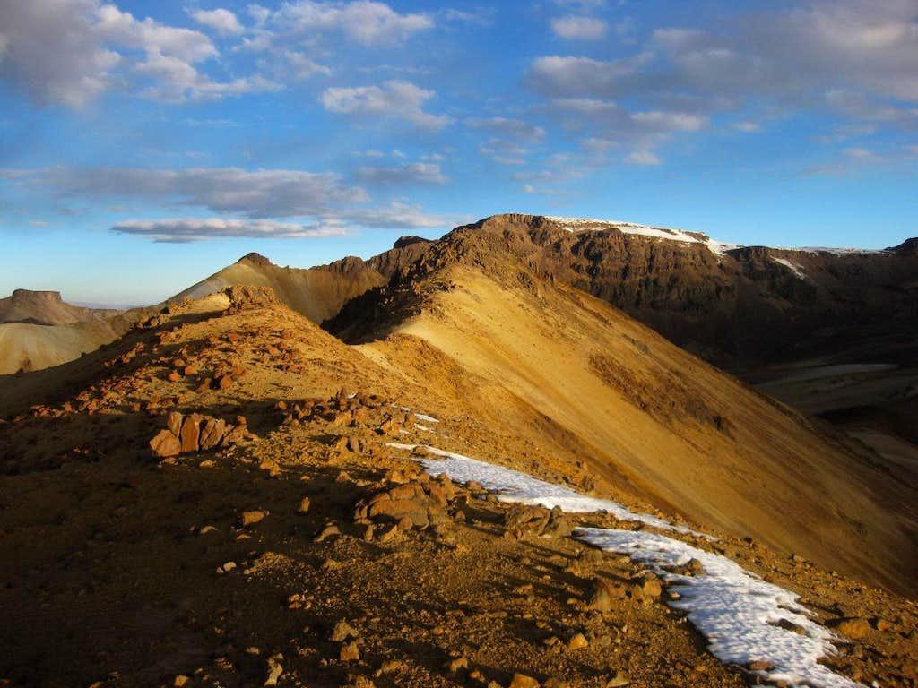 Cerro Jello Jello summit ridge