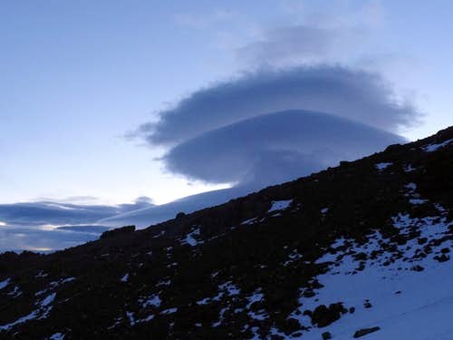 Lenticular Cloud above North/East of Mt Shasta