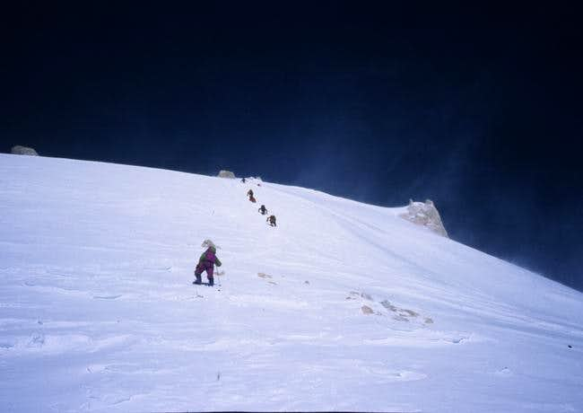 Heading for the summit - the...