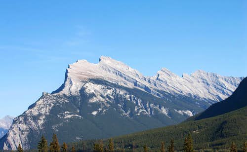 Rundle Mtn (left) and Sulphur (right)