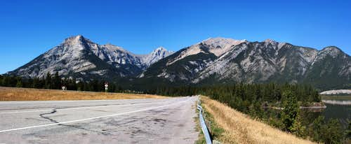 First Glimpse of Mountains South of Canmore, Alberta