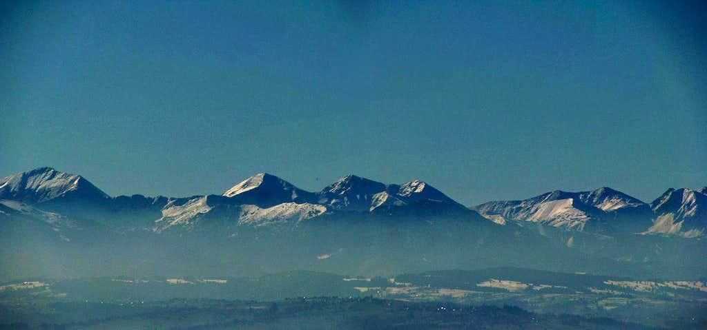 Western Tatras from Bukowina Waksmundzka