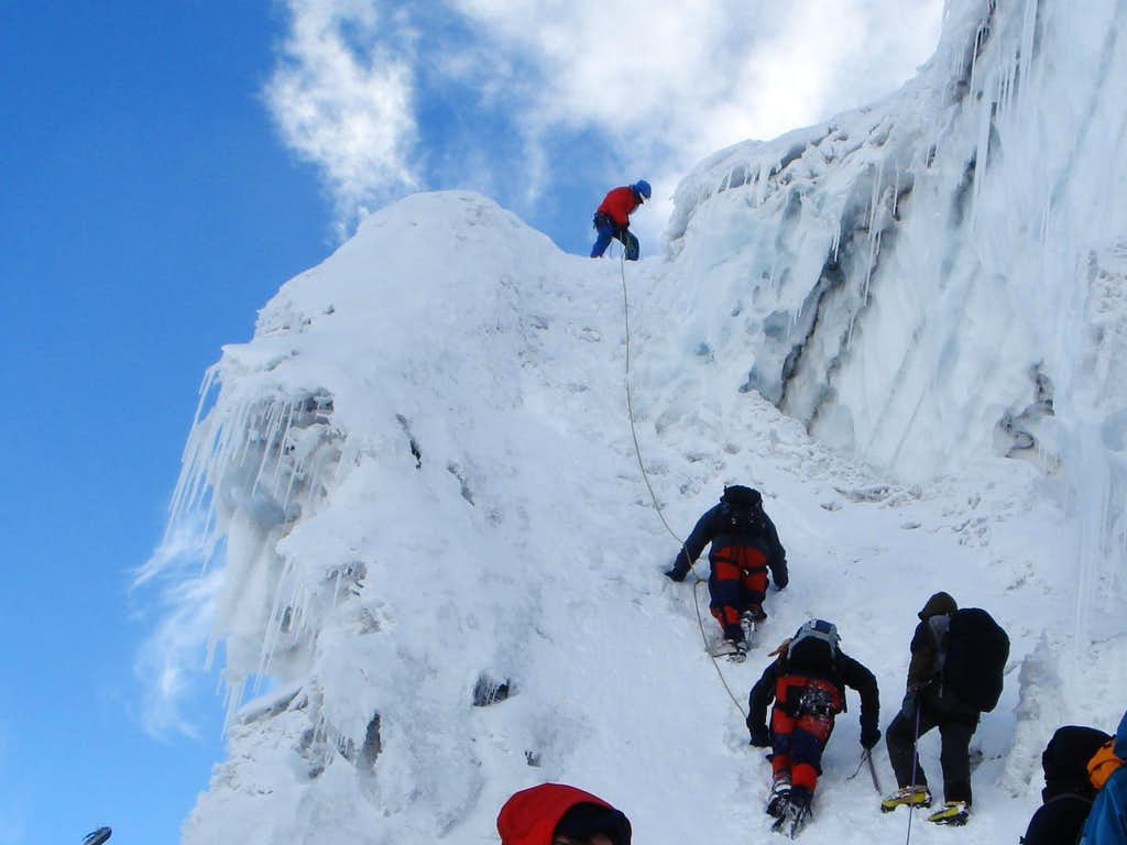 Crux section on normal route