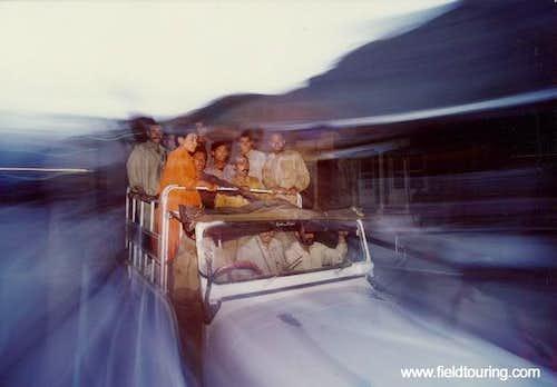 Porters head off from Skardu...