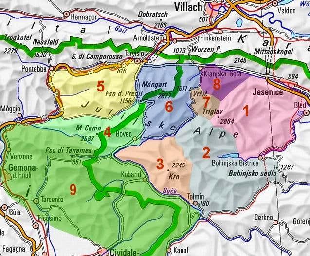 Julian Alps subgroups. The...