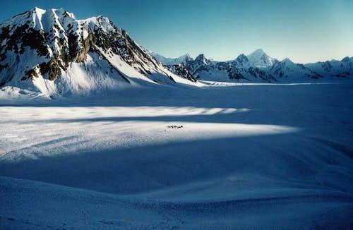 While the Baltoro Glacier is...