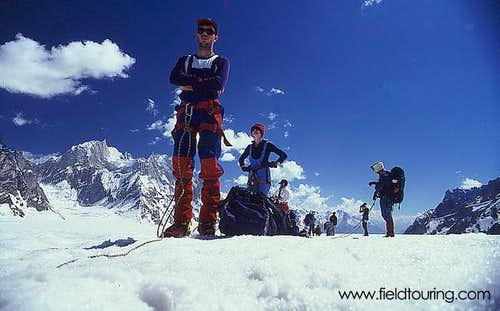 On the Biafo Glacier, one day...