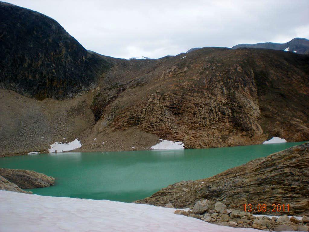 Vanished glacier lake.