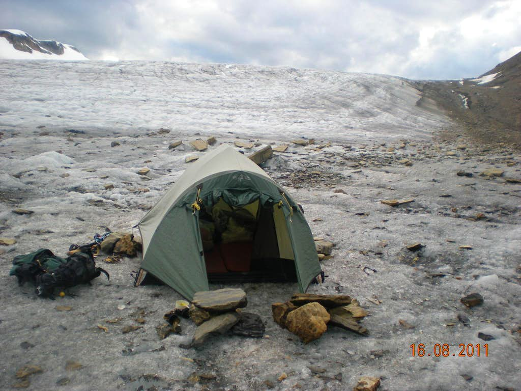 Icefield camp