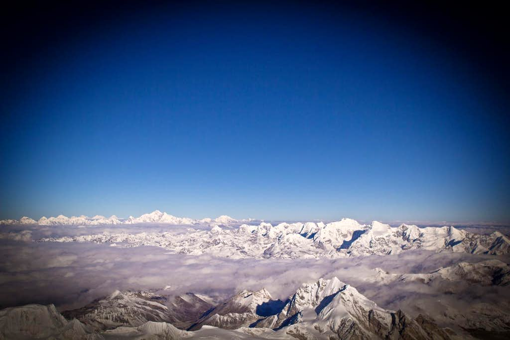 High Above the clouds on Cho Oyu