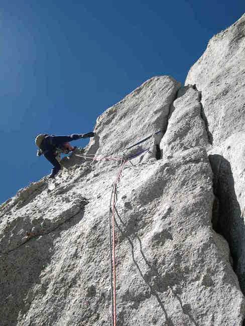 Alois on the third 5.7 pitch...