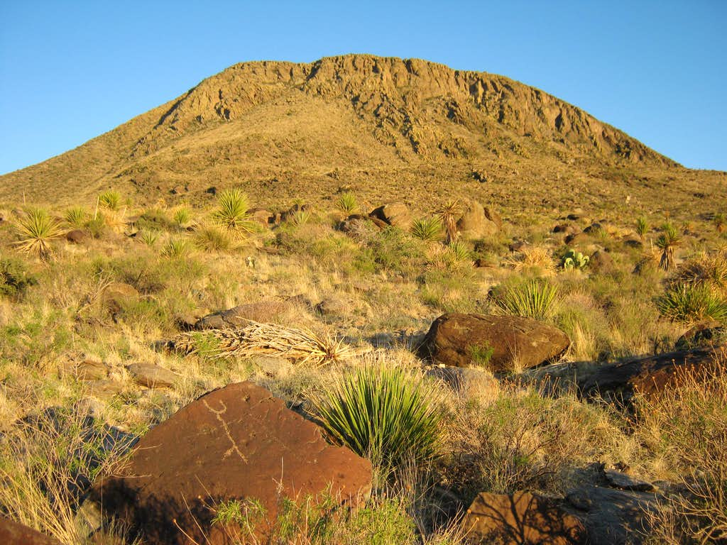 Alamo Mountain and Petroglyph