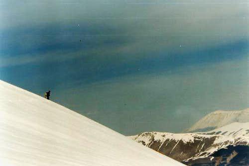 Immaculate snowy slant, near...