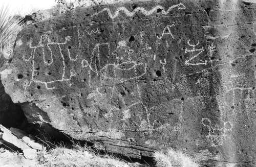 Alamo Mountain Petroglyphs in Black & White