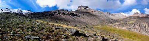 Panorama of Nevado Chucura  foresummit