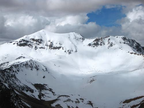 Nevado Huarancante from Nevado Chucura