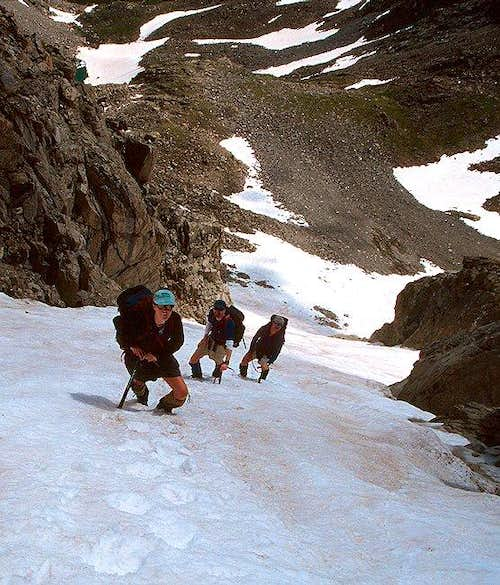 Climbing the Apache Couloir...