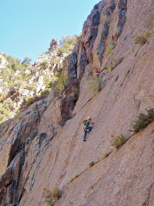 Climber on Dragon Tooth