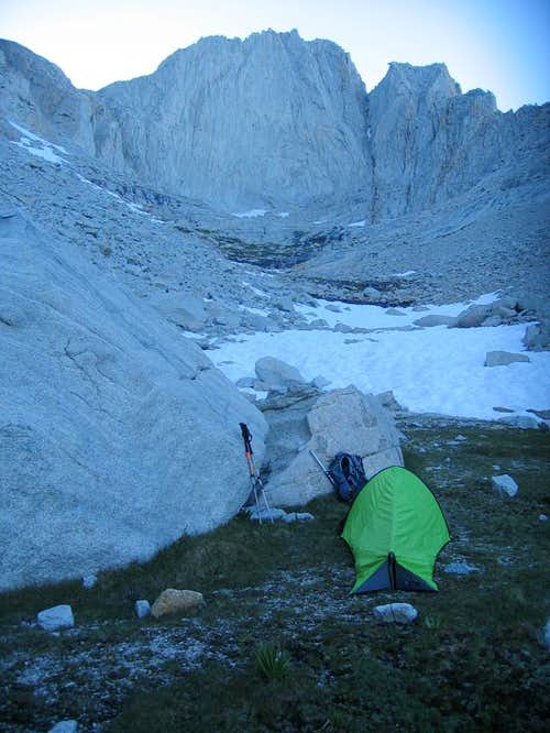 Camping in the Carillon-Cleaver cirque