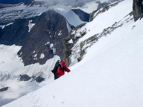 Final push up West ridge.