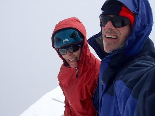Summit after joyful embrace!