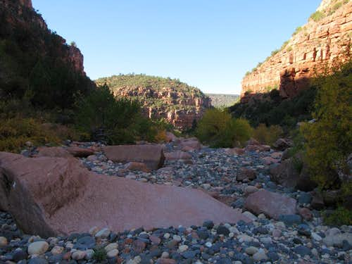 Opening up of the inner Canyon