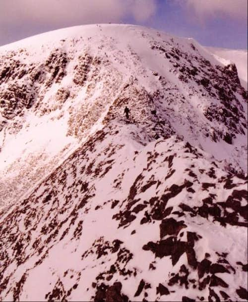 A Winters day Striding Edge...