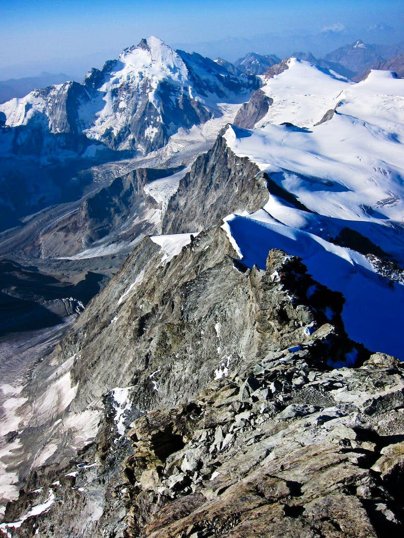 Descending south ridge of Dent Blanche