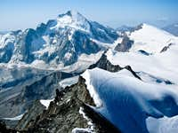 Dent d\'Herens on descent of Dent Blanche