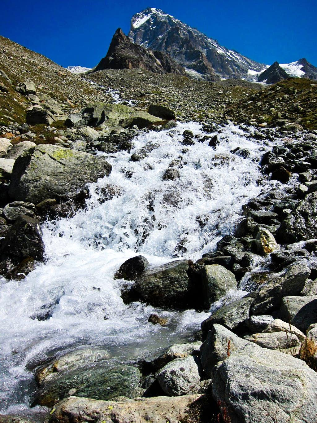 Stream off west face of Dent Blanche