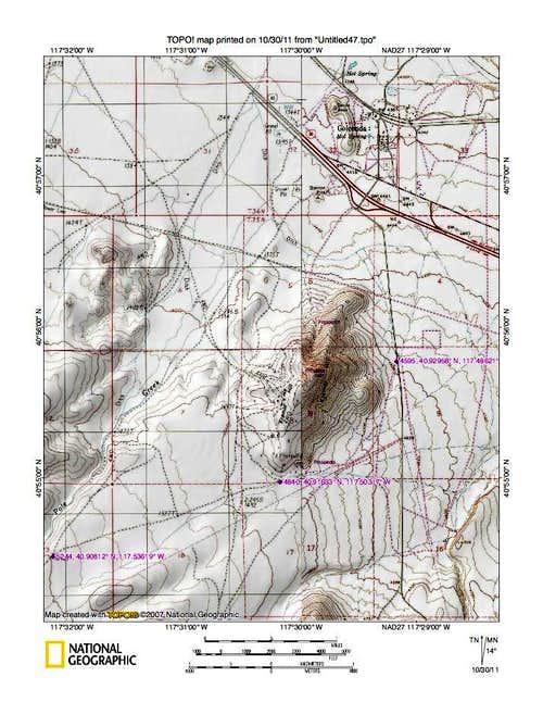 Sonoma Peak (NV) map