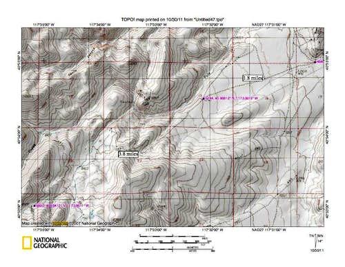 Sonoma Peak (NV) map 2